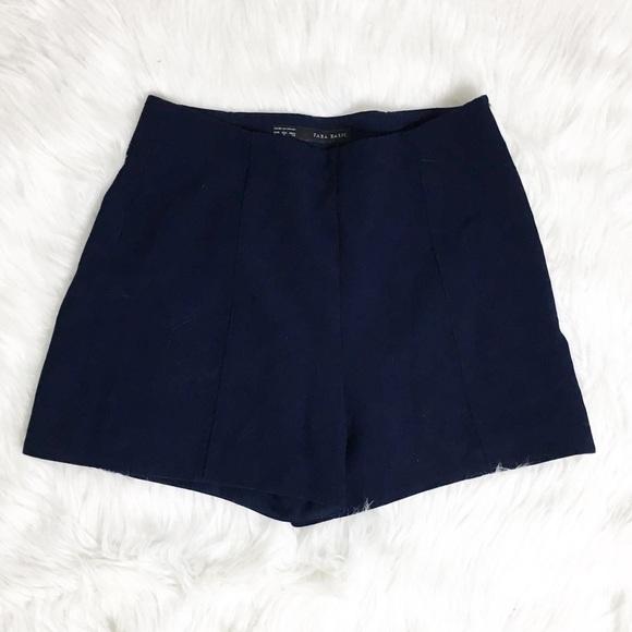 fe702990 🍂SALE!Zara Vintage style high waist shorts blue S.  M_5b81fa8242aa769b34540c9b